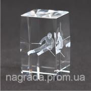 Награда стеклянная с 3D гравировкой Лыжник KR5080/SKI фото