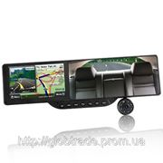 Bluetooth Зеркало Заднего вида со встроенным GPS-Навигации и 720P HD DVR (5-Дюймовый Сенсорный экран фото