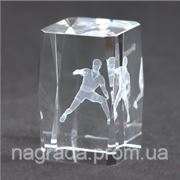 Награда стеклянная с 3D гравировкой Настольный теннис KR5080/PIN фото