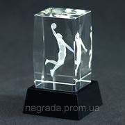 Награда стеклянная Баскетбол CAL50105 фото