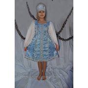 Детские карнавальные национальные костюмы Василиса 2(Снегурочка) на 5,6,7,8,9,10 лет фото