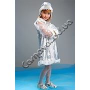 Карнавальный костюм Снегурочка детский фото