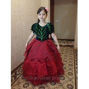 Прокат карнавальное платье Роза. Королева цветов Роза фото