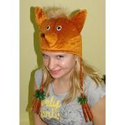 Карнавальная шапка лиса,розовая кошка,мухомор фото
