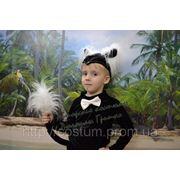 Костюм Котик (с белой манишкой и митенками) для мальчика фото
