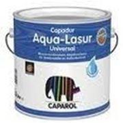 Водоотталкивающая лазурь для дерева Capadur Aqua-Lasur Universal Farblos/ Бесцветная 1 л фото