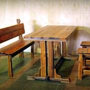 Столы, скамейки под старину фото