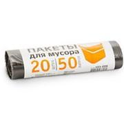 Мешки д/мусора Grifon 50л (10мкм) в рул. 20 шт. черн. ПНД 101-006 /40/ фото