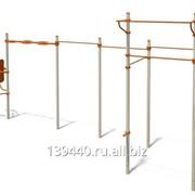 Классический турник, шведская стенка, параллельные брусья, рукоход, скамья для пресса ГТО-058 фото