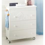 Пеленальный комод Baby Coccolo Lux White от Baby Expert фото