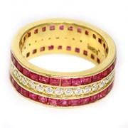 Кольцо «Рубиновый путь» фото