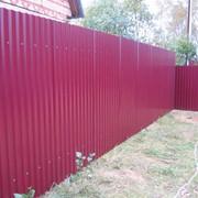Забор глухой из профлиста фото