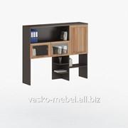 Надстройка для стола, Васко СОЛО-026 Корпус венге, фасад слива/стекло фото