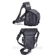 Тактическая сумка набедренная(пояс-нога) №4 (черная)