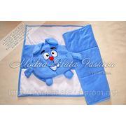 """Детский комплект для отдыха - рюкзачок с одеялом """"Крош"""" фото"""