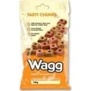 Лакомство Wagg Tasty Chunks - для собак курица, ветчина и говядина 150 гр. фото