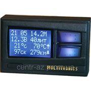 Маршрутный бортовой компьютер Multitronics Comfort Х10 для ВАЗ 2110 вместо часов, цветной экран фото