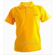 Рубашка поло Infiniti желтая вышивка золото фото