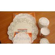 Ажурная салфетка под торт круглые D32cм (код 01855) фото