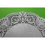 D24 Салфетки ажурные белые круглые 10 шт. фото