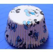 Арт. 140 Бумажные тарталетки Микки Маус 100 шт. фото