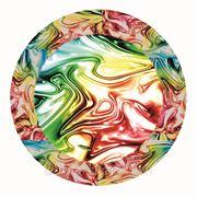 Тарелка 230 мм цветная картонная