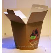 Бумажный контейнер для сыпучих продуктов 600мл.