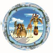 Тарелка цветная картонная 230 мм для детей