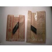 Пакет бумажный с ПП окошком(по центру, сбоку) фото