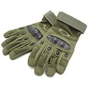Перчатки Oakley полнопалые, зеленые (Olive) фото