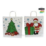 Бумажный крафт-пакет с рисунком ''Рождество'' 35*39,5*12 см фото