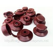 Колпачки красные, коричневые и зеленые. ISO 9001 фото