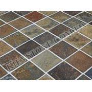 Тротуарный камень Рустик (коричневый) фото