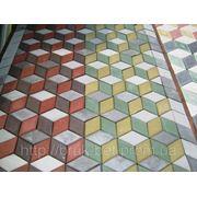 Вибропрессованная тротуарная плитка серая (NEW) фото