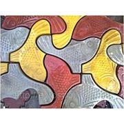Плитка тротуарная ФЭМ «Рыбка» фото