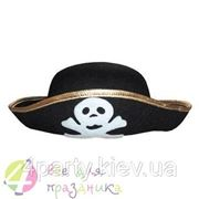 """Шляпа """"Пират"""" с черепом (детская) фото"""