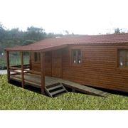 Дачный, деревянный дом фото