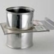Шибер задвижка нерж. AISI - 430., 0,8мм. диам. 115 фото