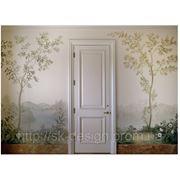 Роспись стен коридора фото