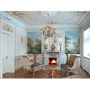 Создание дворцового стиля в интерьере, роспись стен фото