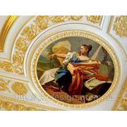 Дворцовая роспись на потолке фото