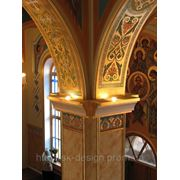 Орнаментальная роспись стен фото