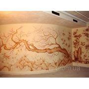 Графическая роспись стен фото