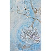 Нежная цветочная роспись стен фото