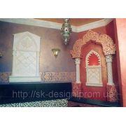 Орнаментальная роспись в интерьере фото