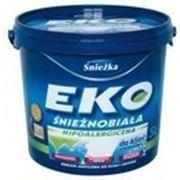 Краска акриловая EKO- SNIEZKA (Снежка) для потолка и стен белая.5 литров.