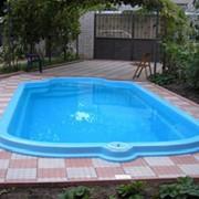 Установка композитных бассейнов фото
