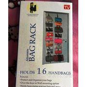 Adjustable bag rack – держатель (органайзер) для сумок с 16-ю крючками. фото