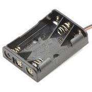 Кассетница под ААА на 3 элемента с проводами фото