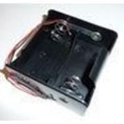 Кассетница под D на 2 элемента с проводами фото